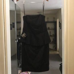 Classy sleeveless back zip fully lined Dress